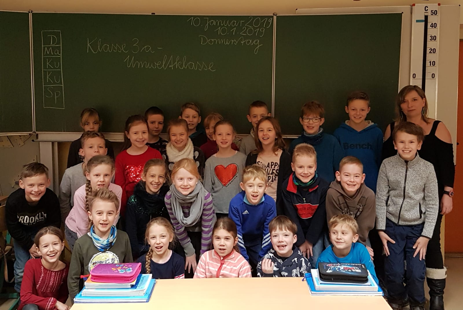 Seit dem ersten Schuljahr haben sich die Schülerinnen und Schüler mit ihrer Klassenlehrerin Doreen Trautermann an verschiedenen Umweltaktionen beteiligt.
